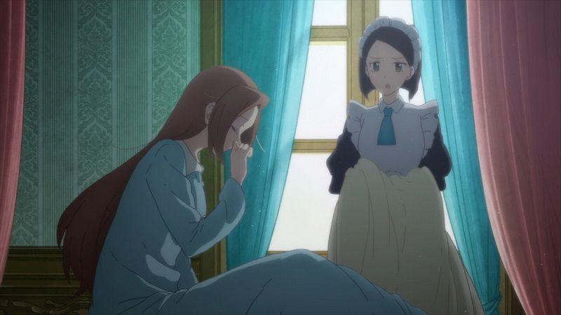 """Кадр из аниме """"Моя реинкарнация в отомэ-игре в качестве главной злодейки"""""""
